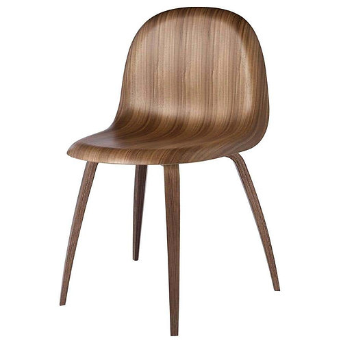 Gubi 3D Dining Chair in American Walnut by Komplot Design