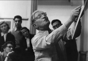 Josef Albers teaching at Yale by John Cohen, c. 1955