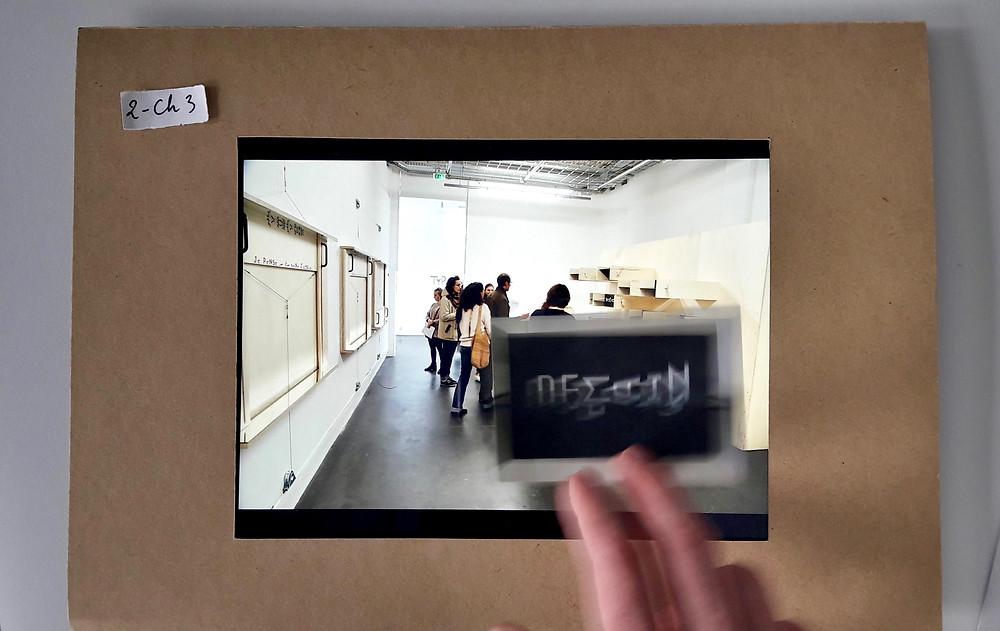 Séance de travail sur l'ouvrage numérique «La création à l'œuvre. Une enquête autour de l'exposition Typoéticatrac», EnsadLab, 9 février, 2018.