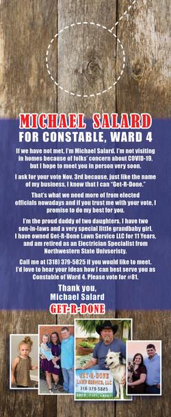 Election Door Hang Card - Reverse