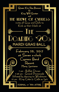Mardi Gras Ball Invitation