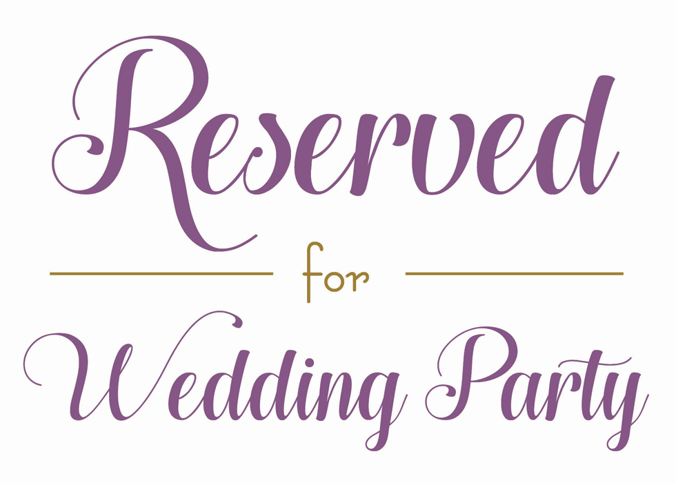 Wedding - Reserved