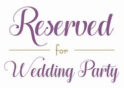 Wedding - Reserved