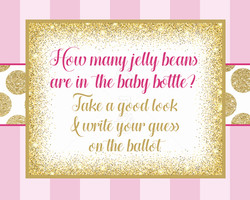 Baby Shower Games Sign
