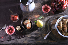Simple backdrops for food shots