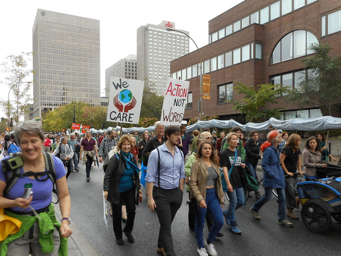 Récapitulatif sur la Marche pour le Climat à Montréal