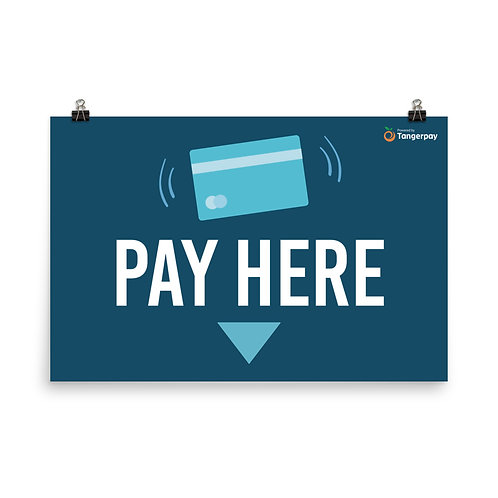 Pay Here Banner - Navy