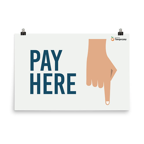 Pay Here Banner - Sand