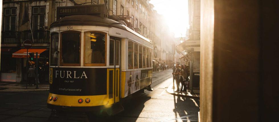 Mit 28 mm durch Lissabon