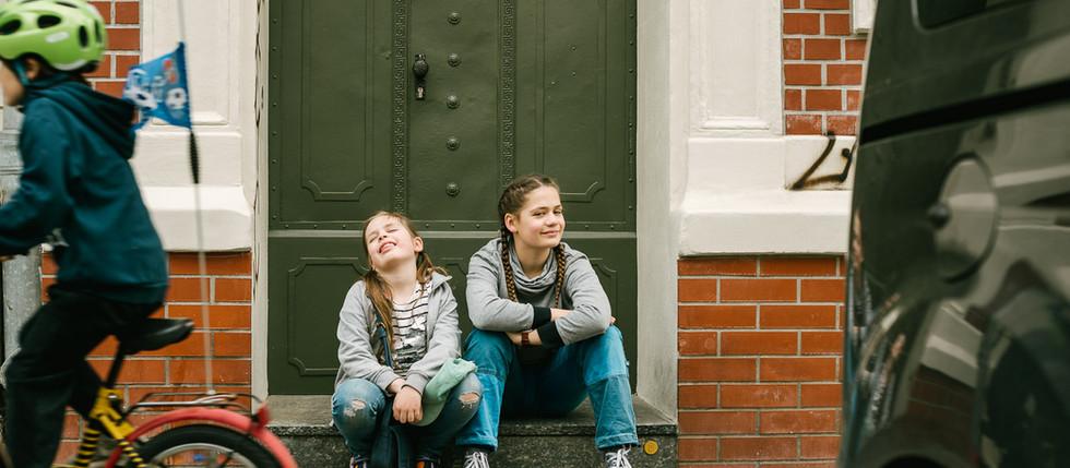 Familienfotografie mit Inga, Edda und Anja in Leipzig - Fockeberg