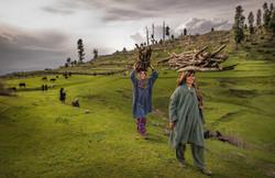 Women-carrying-wood
