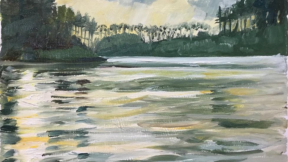 Setting Sun, Wistland Pound Reservoir. 15.12.20