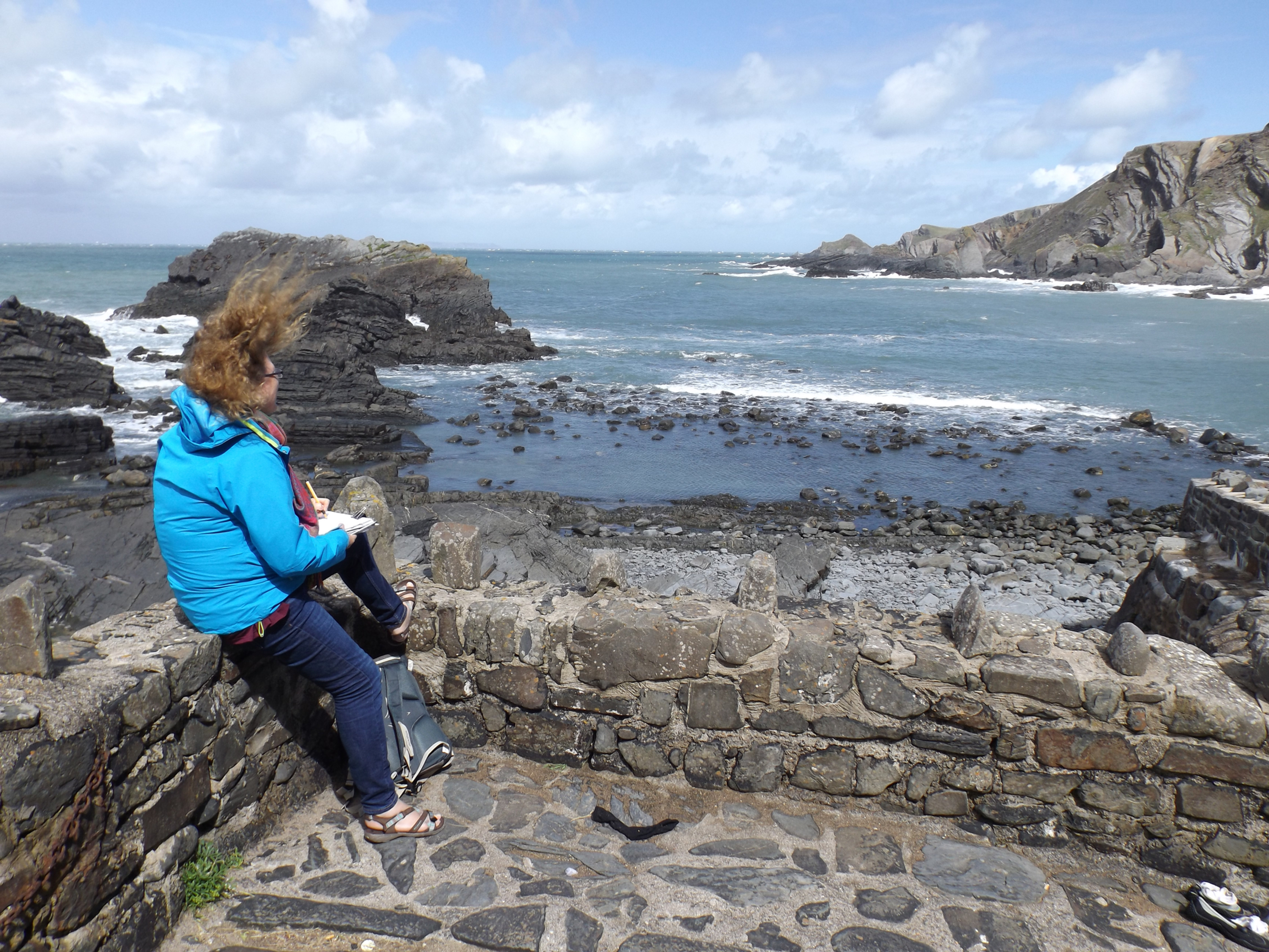 Paint out Hartland Quay, 4th September
