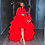 Thumbnail: Red High Low Tulle Skirt