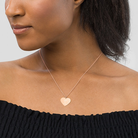 God is Love Silver Heart Necklace