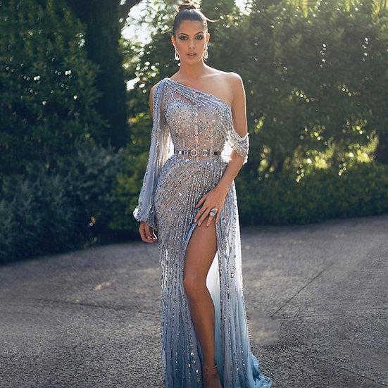 Dubai One Shoulder Evening Dress