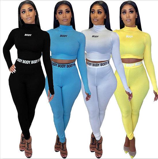 Hot Sale Two Piece Set Tracksuit Women sweat suits men yellow