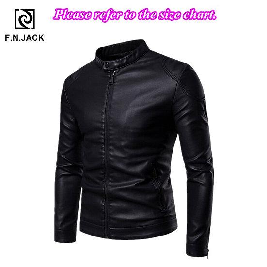 F.N.JACK Mens Leather Jacket