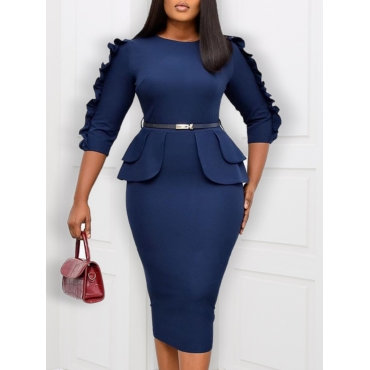 A Day in the Office Midi Dress