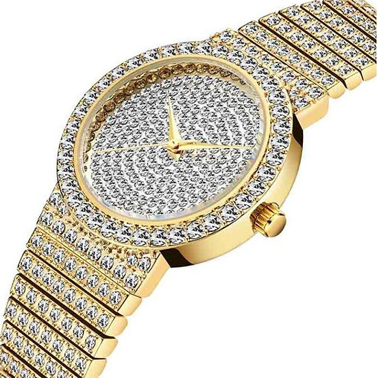 RTS 34mm 18k gold Iced Out Round Expensive Slim full diamond Wrist Man Watch