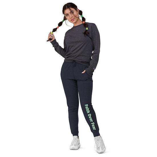 Faith Over Fear Unisex slim fit joggers