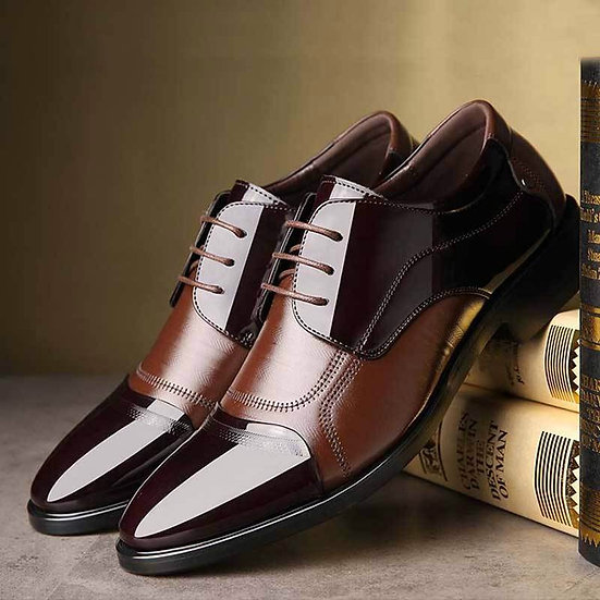 Men Leather  Breathable Oxford Shoe