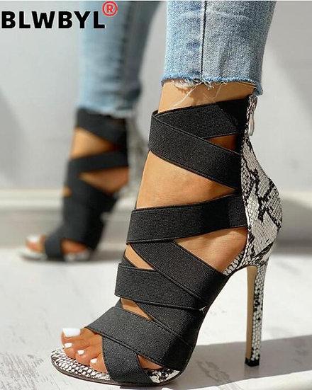 Snake High Heels Sandals