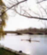 Single scull on Lake Carnegie