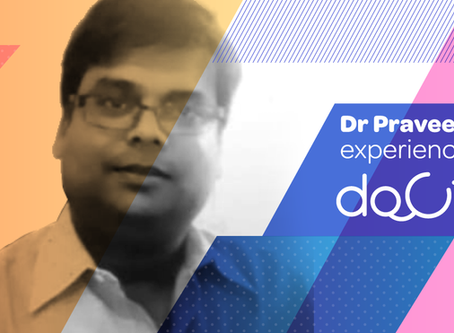 """""""Docterz is the best clinic and patient data management app."""", Dr. Praveen Garg, Gwalior."""