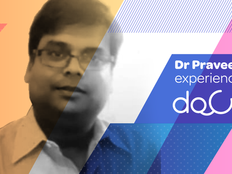 """Docterz is the best clinic and patient data management app."", Dr. Praveen Garg, Gwalior."
