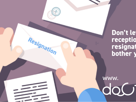 Receptionist resignations won't bother you any more.