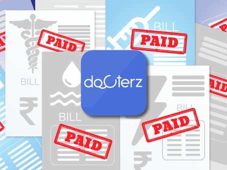 Manage all your bills with Docterz.
