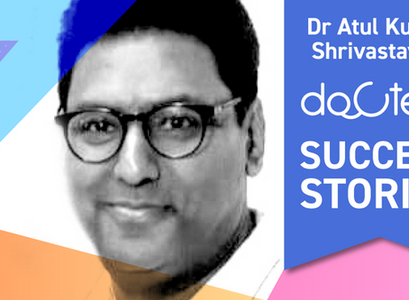 """In just 6 months I found Docterz awesome for my practice."", Dr Atul Kumar Shrivastava, Bareilly."