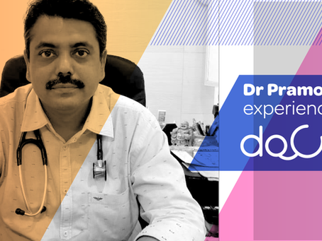 """After Docterz, I find trouble to write prescriptions on the letterhead."", Dr. Pramod Bagul, Mumbai."