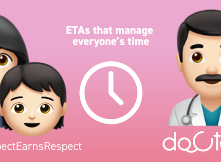 ETA for patients to utilise their time better.