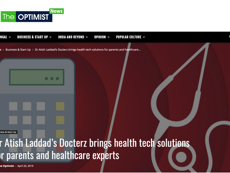 Docterz featured in 'THE OPTIMIST' News.