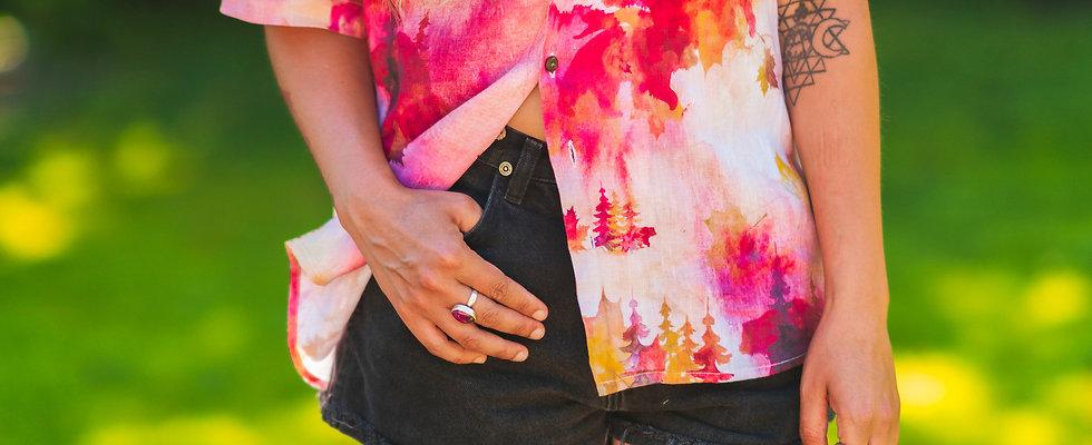 Watercolor paint Hawaiian shirt