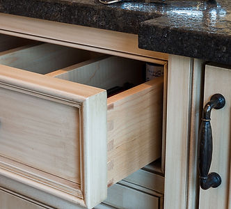 High cabinet drawer with quality construction and hardware