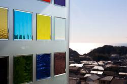 ステンドグラスのスクリーン/CASA BARCA/豪邸 高級別荘建築