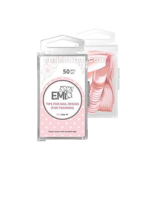 Nail Art Pink Tips Square 50 Stk