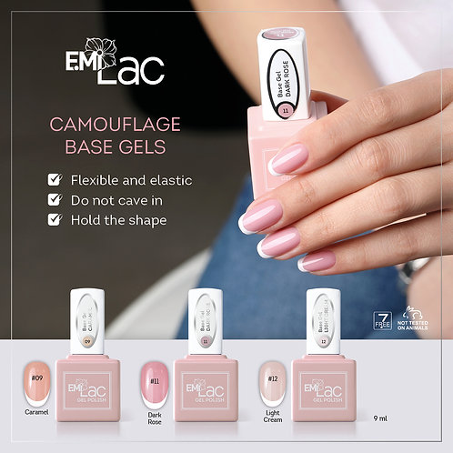 Camouflage Base Gel 9ml #9 - #12