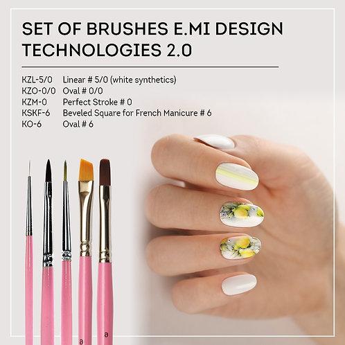 Set of brushes Technlogie 2.0 5 Pinsel im Wert von 53.--