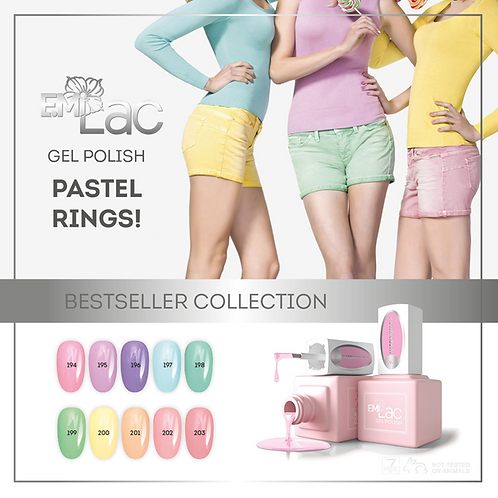 E.MiLac Pastel Rings Display Aktion 20%