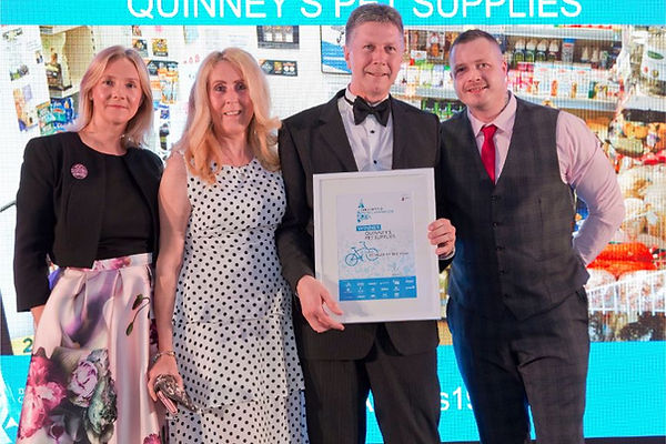Collecting our award Leisure Retailer of