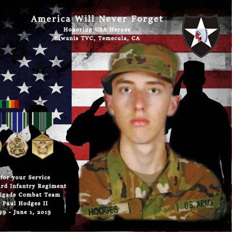 Steven Paul Hodges II, PFC US Army