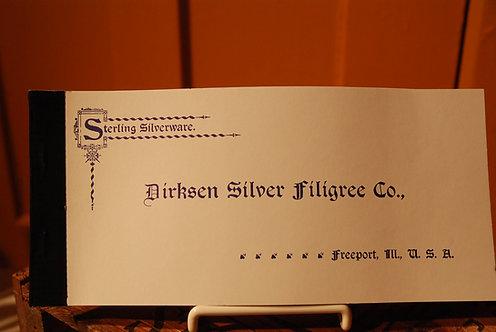Dirksen Silver Filigree Company Catalog