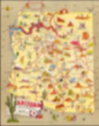 Touristy Map of Arizona