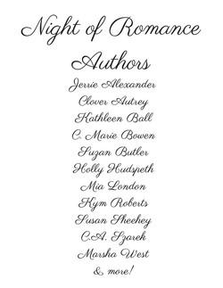 Night of Romance Authors 2017