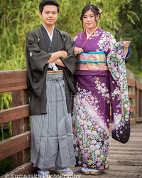 """Sibling photo session to celebrate """"Coming of Age Day"""". The age of becoming an adult in Ja"""
