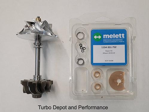 6.7L Cummins HE300VG Turbo Rebuild Kit With Upgraded Billet Wheel and Turbine